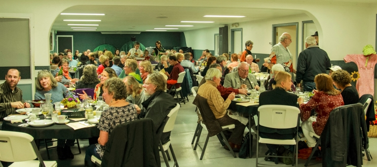 100 diners attended the Farm to Table event at the Boundary County Fairgrounds.